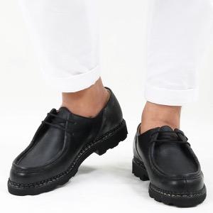 パラブーツ シューズ/革靴 メンズ ミカエル マルシェ 2 ブラック MICHAEL NOIRE-LIS NOIR 715604 PARABOOT