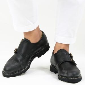 パラブーツ シューズ/革靴/ダブルモンクストラップシューズ メンズ ウィリアム マルシェ 2 ブラック WILLIAM NOIRE-LIS NOIR 981412 PARABOOT