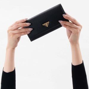 プラダ 長財布 財布 レディース ヴィッテロ フェニックス 三角ロゴプレート ブラック 1MH132 2B16 F0002 PRADA