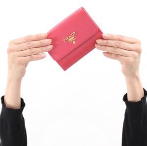 プラダ 二つ折り財布 財布 レディース サフィアーノ メタル ペオニアピンク 1MH523 QWA F0505 PRADA
