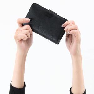 プラダ 二つ折り財布 財布 レディース サフィアーノ スマルト ブラック 1ML225 2CHR F0002 2019年秋冬新作 PRADA