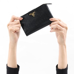 プラダ 二つ折り財布 財布 レディース VITELLO MOVE ブラック 1ML225 2EZZ F0002 PRADA