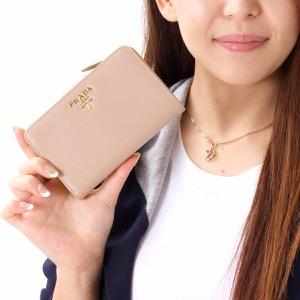 プラダ PRADA 二つ折財布 VITELLO MOVE カメオベージュ 1ML225 2EZZ F0770 レディース