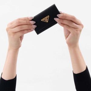 プラダ キーケース メンズ レディース テスート トライアングル 三角ロゴプレート ブラック 1PG222 2B15 F0002 PRADA