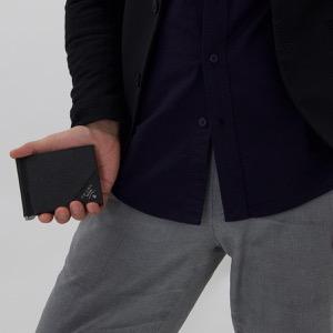 プラダ 二つ折り財布【札入れ】 財布 メンズ サフィアーノ メタル ブラック 2MN077 QME F0002 PRADA