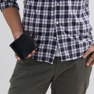 プラダ 二つ折り財布 財布 メンズ ヴィッテロ マイクロ グレイン ブラック 2MO738 2CB2 F0002 PRADA