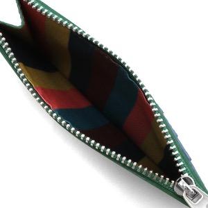 ポールスミス コインケース(小銭入れ)/カードケース 財布 メンズ ストロー グリーン&マルチ M1A 6136 GSTRGS 30 PAUL SMITH