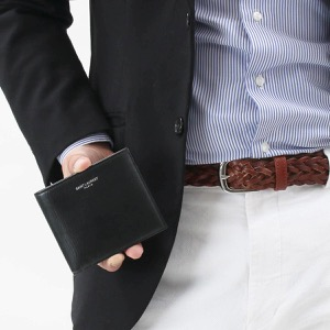 サンローランパリ イヴサンローラン 二つ折り財布 財布 メンズ クラシック ブラック 396303 0U90N 1000 2020年春夏新作 SAINT LAURENT PARIS