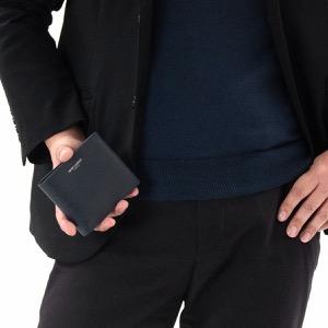 サンローランパリ イヴサンローラン 二つ折り財布 財布 メンズ クラシック ディープマリンブルー 396303 BTY0N 4147 2019年春夏新作 SAINT LAURENT PARIS