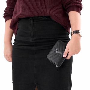 サンローランパリ イヴサンローラン 二つ折り財布 財布 レディース モノグラム MONOGRAMME YSL ブラック 403723 BOW02 1000 SAINT LAURENT PARIS