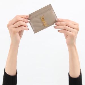 サンローランパリ イヴサンローラン カードケース/クレジットカードケース レディース モノグラム YSL ダスティグレージュ 423291 BOW01 1722 SAINT LAURENT PARIS