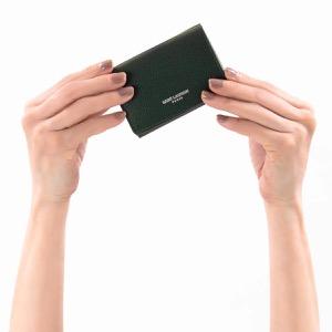 サンローランパリ イヴサンローラン 三つ折り財布/ミニ財布 財布 レディース エプソン アルジーグレー 459784 B680N 4458 SAINT LAURENT PARIS