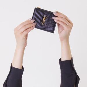 サンローランパリ イヴサンローラン 二つ折り財布 財布 レディース モノグラム YSL ブラック 517045 BOW01 1000 SAINT LAURENT PARIS