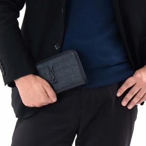 サンローランパリ イヴサンローラン 長財布 財布 メンズ レディース モノグラム クロコエンボス YSL ブラック 529899 C9H0U 1000 SAINT LAURENT PARIS