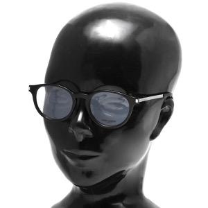 サンローランパリ イヴサンローラン 伊達メガネ メンズ レディース ウェリントン ブラック&シルバー&トランスペアレントクリア SL 25 F 001 ASI SAINT LAURENT PARIS