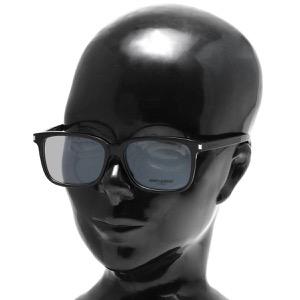 サンローランパリ イヴサンローラン 伊達メガネ メンズ ウェリントン ブラック&トランスペアレントクリア SL 89 F 001 ASI SAINT LAURENT PARIS