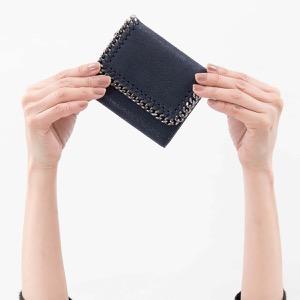 ステラマッカートニー 三つ折り財布 財布 レディース ファラベラ シャギーディア ミニ ミッドナイトブルー 431000 W9132 4061 STELLA McCARTHNEY