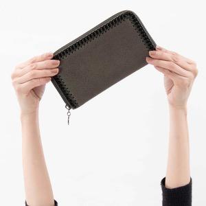 ステラマッカートニー 長財布 財布 レディース ファラベラ シャギーディア バークグレー&ブラック 434750 W8180 3250 STELLA McCARTHNEY