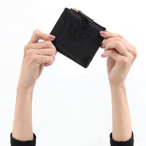 トリーバーチ 二つ折り財布 財布 レディース マクグロウ ミニ ブラック 45246 001 2019年秋冬新作 TORY BURCH