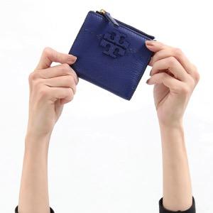 トリーバーチ 二つ折り財布 財布 レディース マクグロウ ミニ ブライトインディゴブルー 45246 493 TORY BURCH