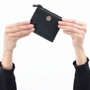 トリーバーチ 二つ折り財布/ミニ財布 財布 レディース ロビンソン ミニ ブラック 54449 001 TORY BURCH