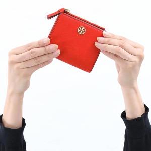 トリーバーチ 二つ折り財布/ミニ財布 財布 レディース ロビンソン ミニ ブリリアントレッド 54449 612 TORY BURCH