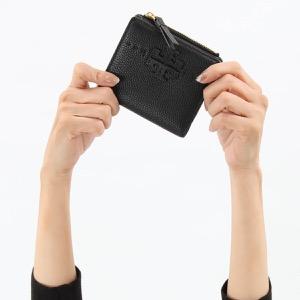 トリーバーチ 二つ折り財布/ミニ財布 財布 レディース マクグロウ ミニ ブラック 54696 001 TORY BURCH
