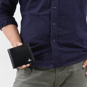 ヴィヴィアンウエストウッド 二つ折り財布 財布 メンズ ケント マン ブラック 51010016 40531 N401 VIVIENNE WESTWOOD