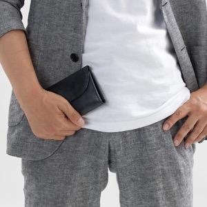 ホワイトハウスコックス 三つ折り財布 財布 メンズ エイジング ブラック S1112 BLACK WHITEHOUSE COX