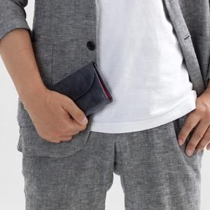ホワイトハウスコックス 三つ折り財布 財布 メンズ エイジング ネイビー&レッド S1112 NAVYRED WHITEHOUSE COX
