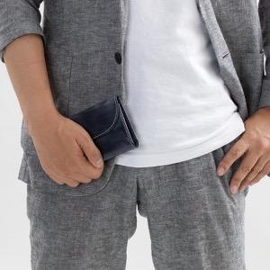 ホワイトハウスコックス 三つ折り財布 財布 メンズ エイジング ネイビー S1112 NAVY WHITEHOUSE COX