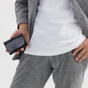 ホワイトハウスコックス コインケース【小銭入れ】/ミニ財布 財布 メンズ ブラック S1884 BLACK WHITEHOUSE COX