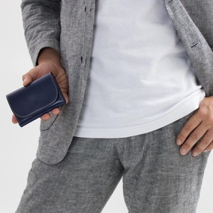 ホワイトハウスコックス コインケース【小銭入れ】/ミニ財布 財布 メンズ ネイビー&ナチュラル S1884 NAVYNAT WHITEHOUSE COX