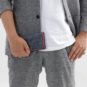 ホワイトハウスコックス 長財布 財布 メンズ エイジング ネイビー&レッド S8819 NAVYRED WHITEHOUSE COX