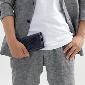 ホワイトハウスコックス 長財布 財布 メンズ エイジング ネイビー S8819 NAVY WHITEHOUSE COX