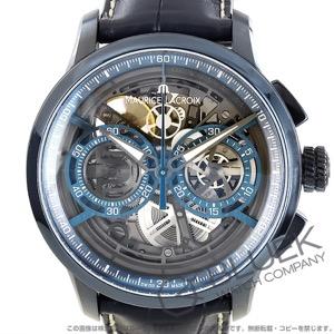 モーリス・ラクロア マスターピース スケルトン 世界限定100本 クロノグラフ アリゲーターレザー 腕時計 メンズ MAURICE LACROIX MP6028-PVC01-002-1
