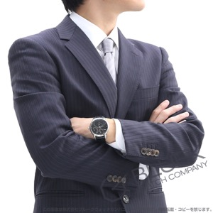 モーリス・ラクロア マスターピース カランドリエ レトログラード パワーリザーブ クロコレザー 腕時計 メンズ MAURICE LACROIX MP6508-SS001-330