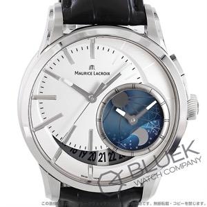 モーリス・ラクロア ポントス オフセンター GMT アリゲーターレザー 腕時計 メンズ MAURICE LACROIX PT6118-SS001-130