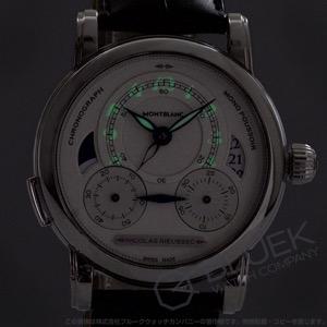 モンブラン ニコラ・リューセック クロノグラフ アリゲーターレザー 腕時計 メンズ MONTBLANC 111012
