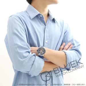 タグホイヤー カレラ ホイヤー01 クロノグラフ アリゲーターレザー 腕時計 メンズ TAG Heuer CAR201T.FC6406