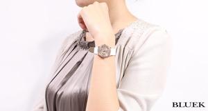 ティファニー アトラス ダイヤ RG金無垢 サテンレザー 腕時計 レディース TIFFANY Z1900.10.30E91A40B