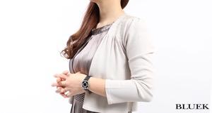 ティファニー アトラス ダイヤ WG金無垢 サテンレザー 腕時計 レディース TIFFANY Z1901.10.40E10A40B