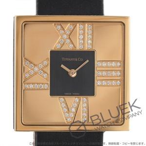 ティファニー アトラス カクテル スクエア ダイヤ RG金無垢 サテンレザー 腕時計 レディース TIFFANY Z1950.10.30E10A40E