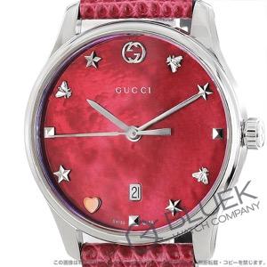 グッチ Gタイムレス リザードレザー 腕時計 レディース GUCCI YA126584