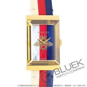 グッチ Gフレーム マザー オブ パール 腕時計 レディース GUCCI YA147409