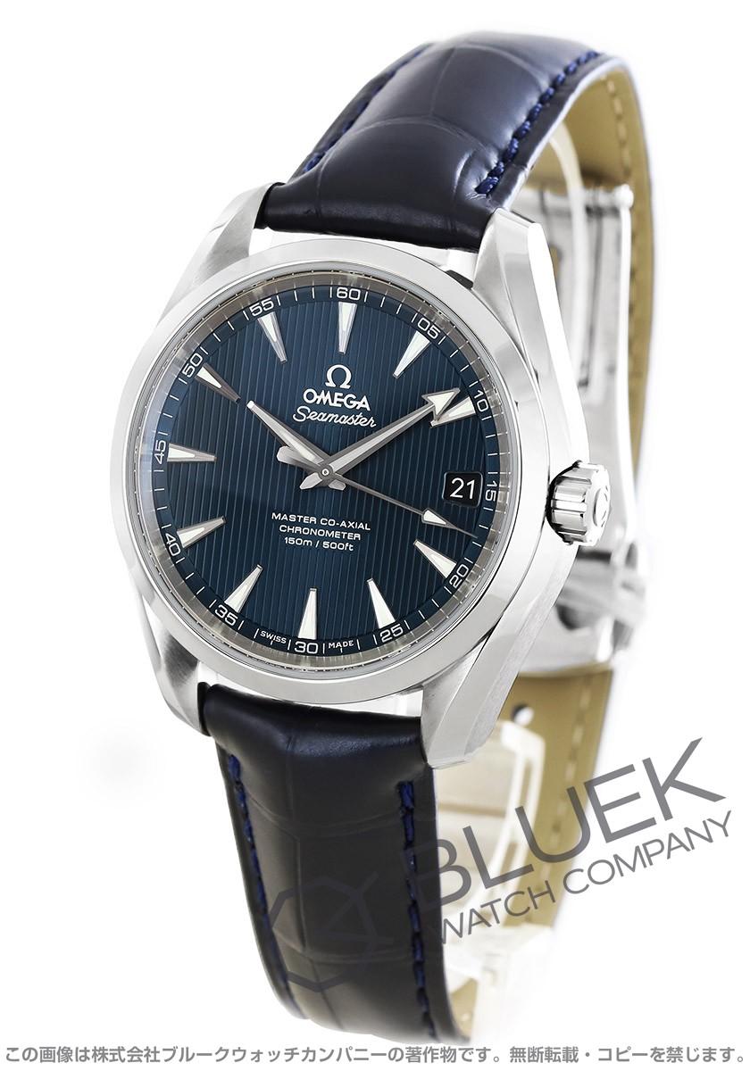 オメガ シーマスター アクアテラ アリゲーターレザー 腕時計 メンズ OMEGA 231.13.39.21.03.001