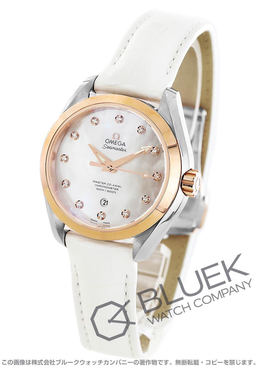 オメガ シーマスター アクアテラ ダイヤ アリゲーターレザー 腕時計 レディース OMEGA 231.23.34.20.55.001