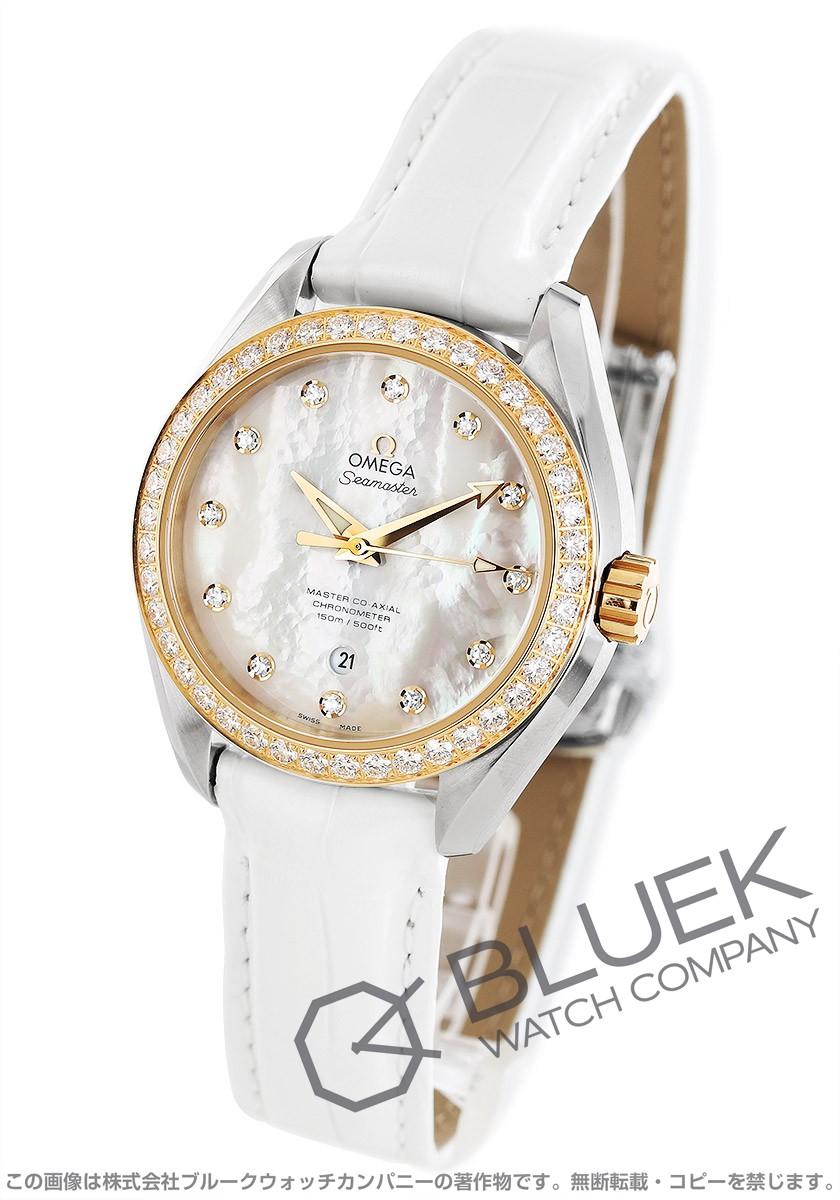 オメガ シーマスター アクアテラ ダイヤ アリゲーターレザー 腕時計 レディース OMEGA 231.28.34.20.55.004
