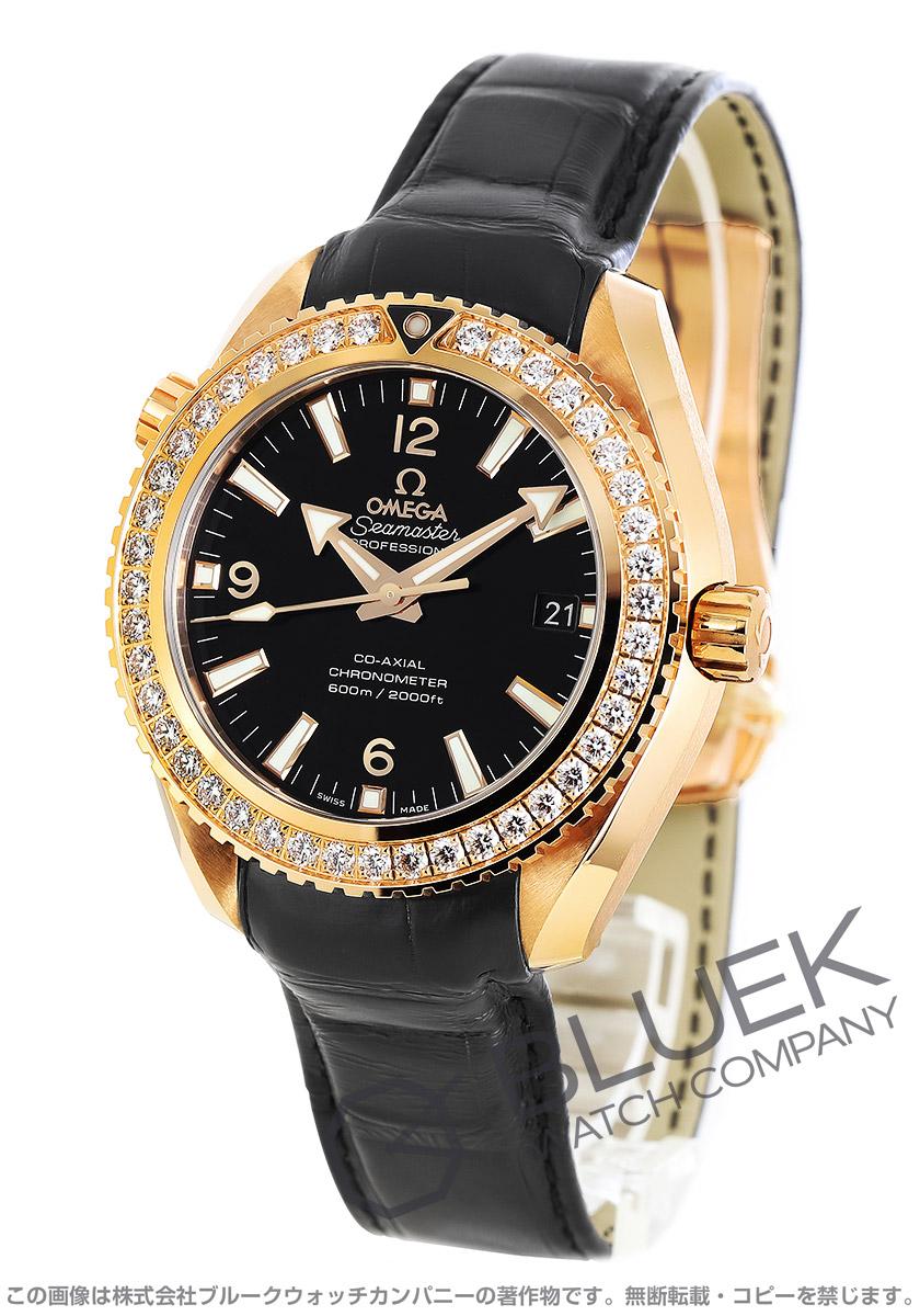 オメガ シーマスター プラネットオーシャン 600m防水 ダイヤ RG金無垢 アリゲーターレザー 腕時計 メンズ OMEGA 232.58.42.21.01.001