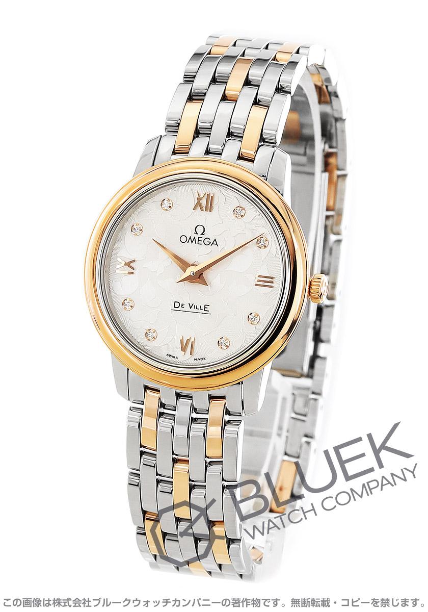 オメガ デビル プレステージ バタフライ ダイヤ 腕時計 レディース OMEGA 424.20.27.60.52.002